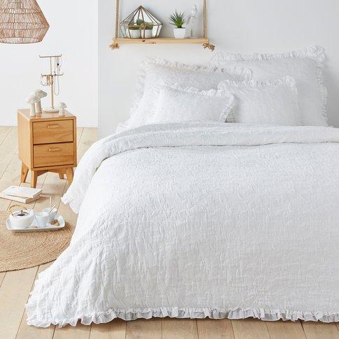 Jara Floral Jacquard Cotton Bedspread