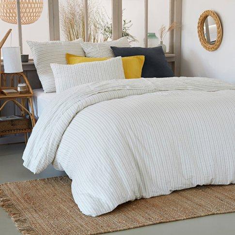 Uzes Striped Linen Duvet Cover