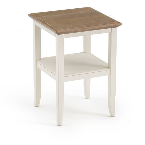 Eulali Oak & Pine Double Shelf Side Table