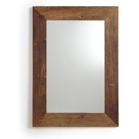 Paros Elm Wood Mirror