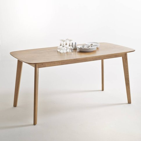 Jimi Solid Oak Dining Table, 6 People