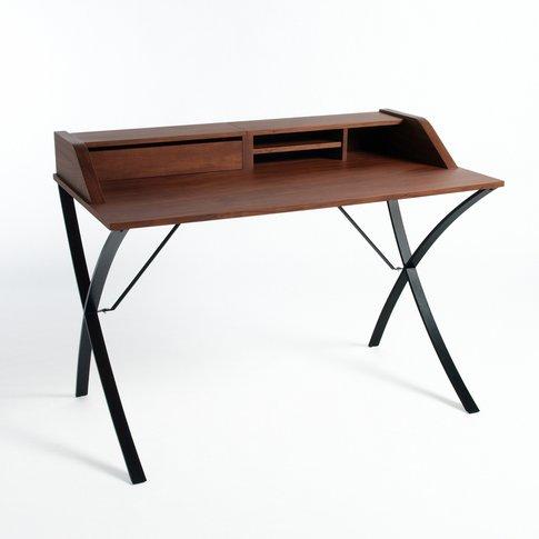 Epitre Walnut And Metal Desk