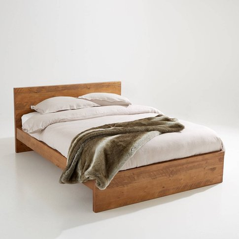 Lunja Rustic Solid Pine Bed Without Slats