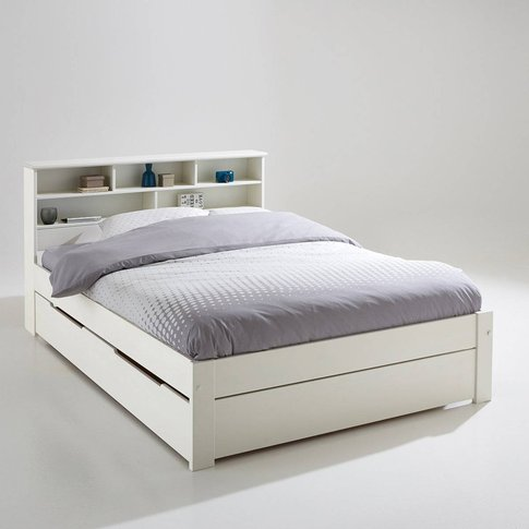 Nikkö Solid Pine Bed With Shelves