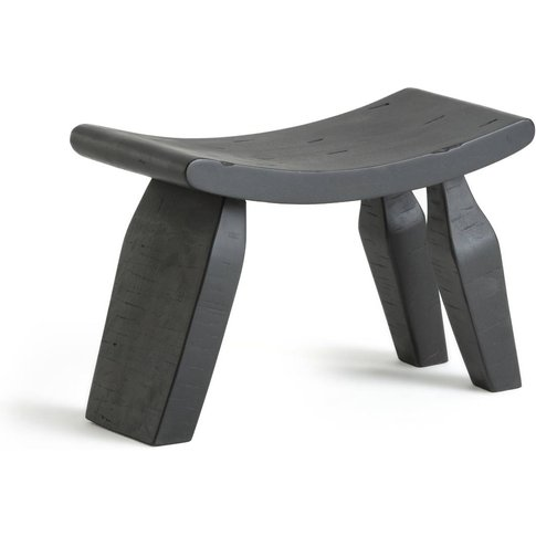 Oreus Three Legged Footstool In Solid Mango