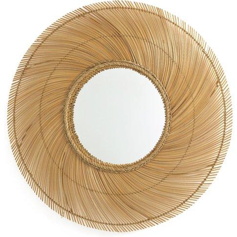 Tiara Xxl Mirror In Coconut Wood