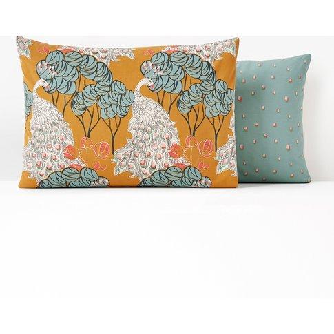 Peacock Cotton Percale Pillowcase