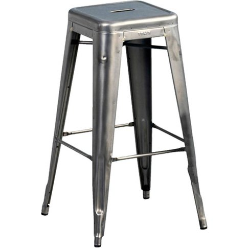 Tolix Stackable Steel Bar Stools (Set Of 2)