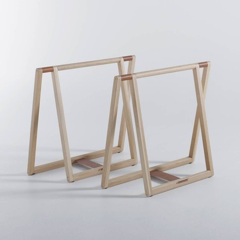 Gary Oak Desk Trestle Supports By E. Gallina
