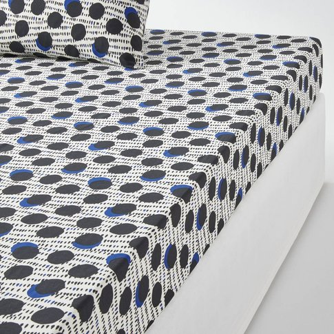 Wafu Dotted Cotton Percale Fitted Sheet