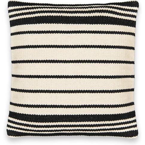 Aloke Striped Cotton Square Cushion Cover