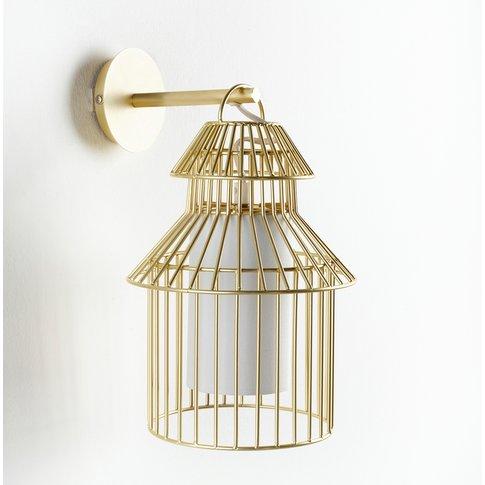 Cuicuicui Contemporary Birdcage Wall Light In Metal