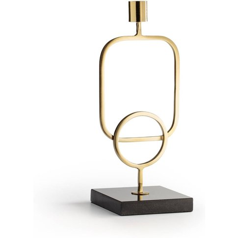 FITIA Marble & Brass Candlestick, H28cm