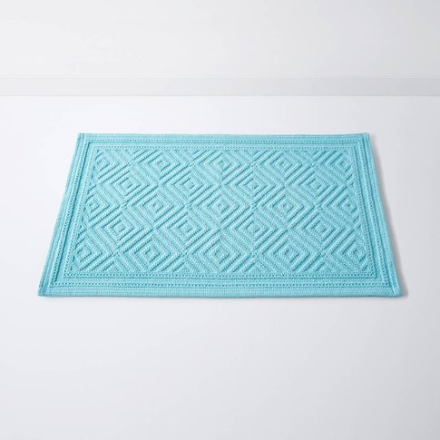 Cairo Cotton Bath Mat With Textured Motif (1500g/M²)