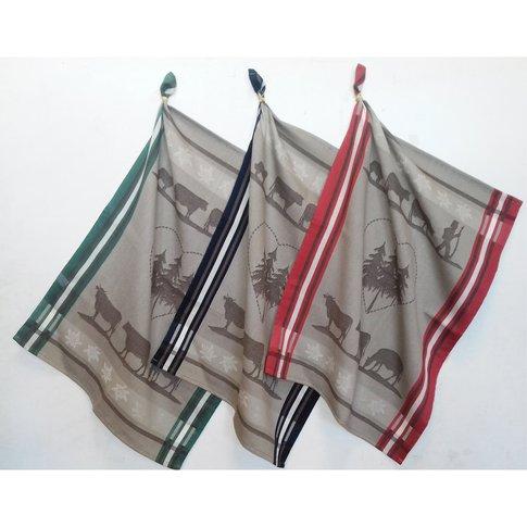 ALPAGE Cotton Jacquard Tea Towels (Set of 6)