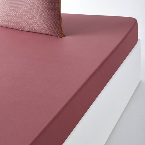 Mina Cotton Percale Fitted Sheet