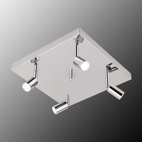 Square Led Ceiling Light Karen Four-Bulb