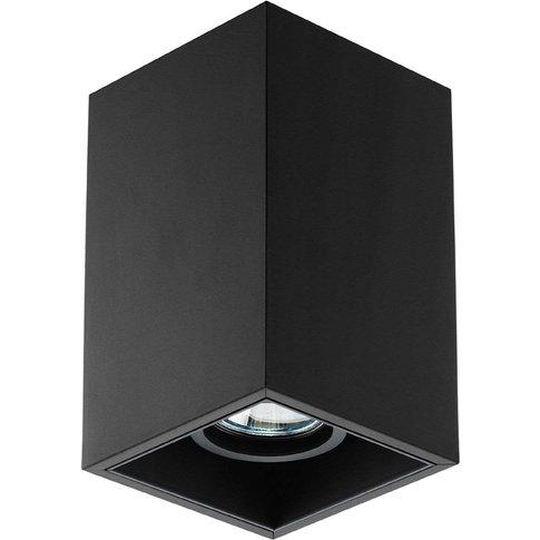 Compass Box S 1 Lamp Ceiling Lamp, Black