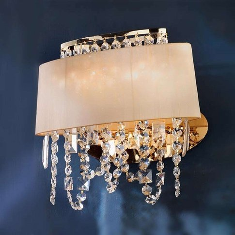 Jevana Wall Light Exclusive With Crystal Hangings
