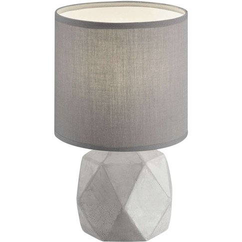 Soft grey table lamp Pike