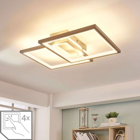 Heriba Two-Frame Led Ceiling Lamp, Dimmable