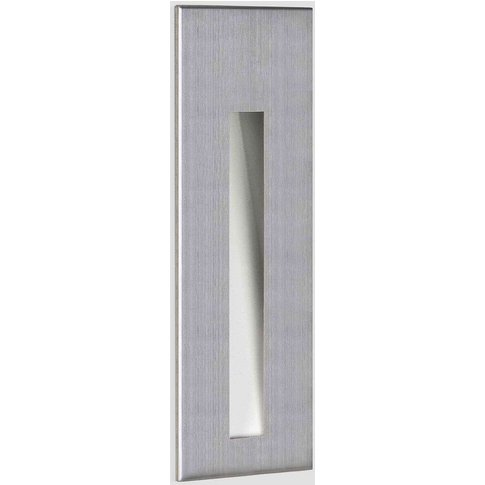 Astro Borgo 55 Recessed Wall Light Brushed Steel