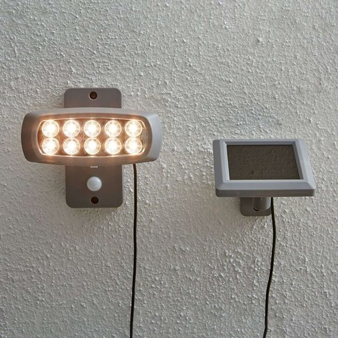 Solar Led Spotlight Powerspot With Sensor, Grey