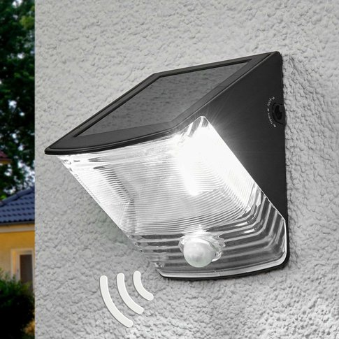 Sol 04 Solar Led Wall Light With Ip44, Black