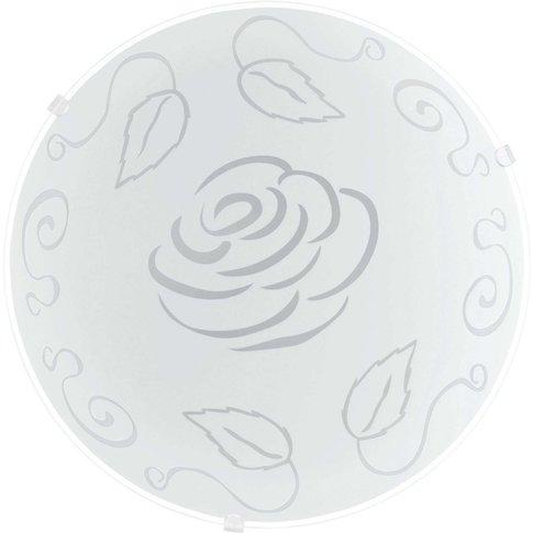 Moira Glass Ceiling Lamp - Rose Theme