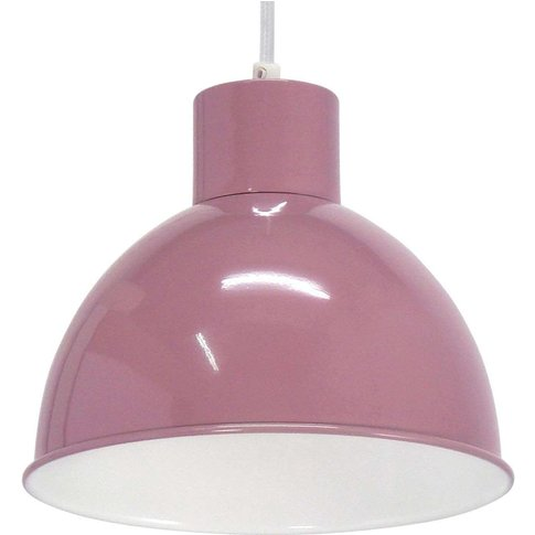 Andrin Lavender Pendant Lamp - White Interior