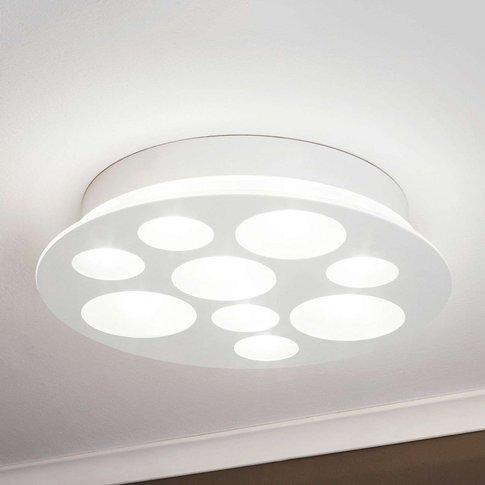 Pernato - A Round, White Led Ceiling Light