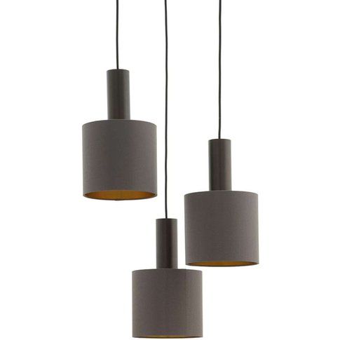 Concessa Pendant Lamp, 3-Bulb, Cappuccino/Gold