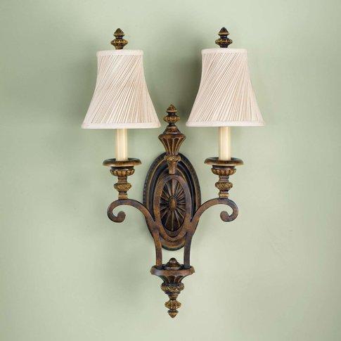 Drawing Room Wall Light, Two-Bulb, Narrow