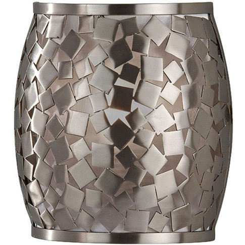 Zaria Wall Light In Mosaic Look Silver