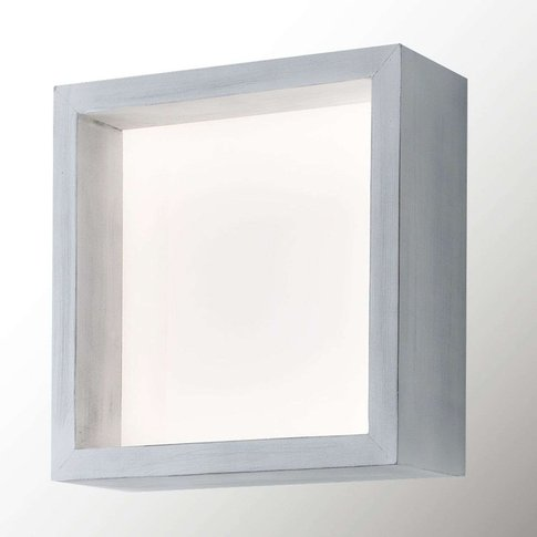 Window Led Wall Light, 37 X 37 Cm, Vintage White