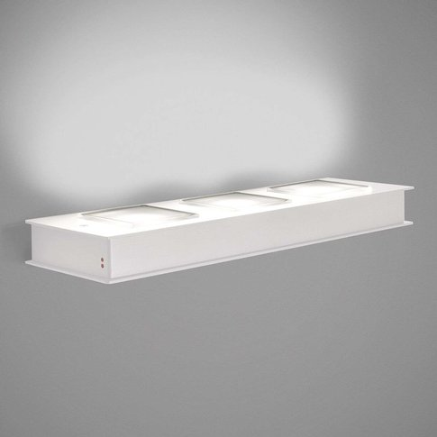White Quarter Led Wall Lamp, Three-Bulb