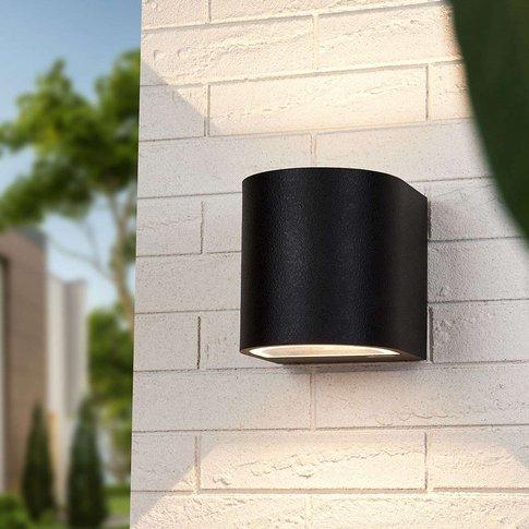 Lenis Wall Lamp, Wide/Wide Light Outlet, Black