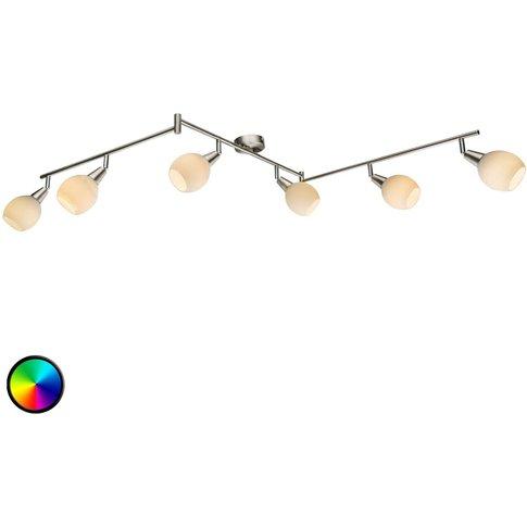 Three-Armed Rgb Led 6-Bulb Ceiling Light Kaiden