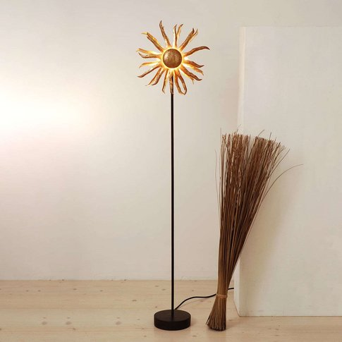 Enchanting Led Floor Lamp Sun In Gold