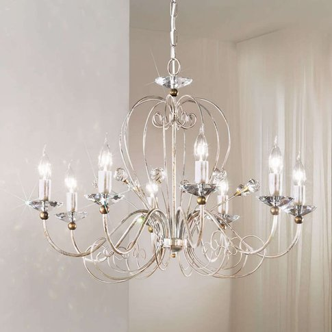 Classic Chandelier Rossana, Eight-Bulb