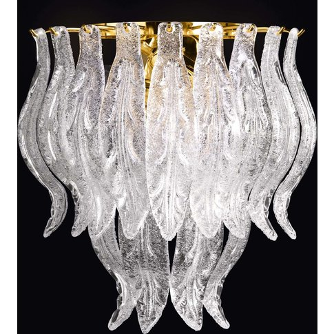 Petali Wall Light With Murano Glass 33Cm
