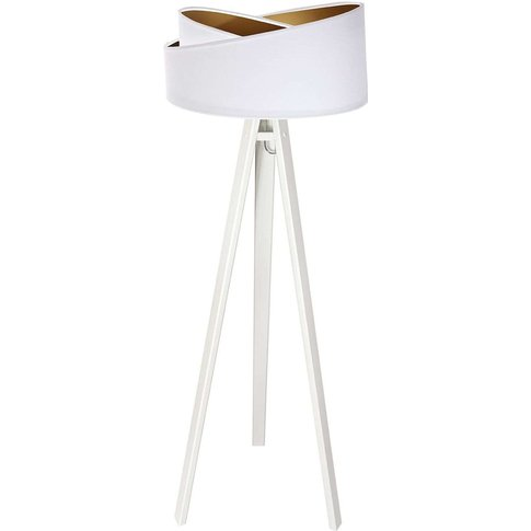 Chloe Floor Lamp With A Two-Tone Lampshade