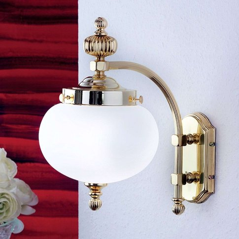 Delia Brass Wall Light, One-Bulb
