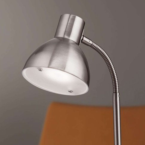 Matt Nickel-Coloured Led Desk Lamp Isra