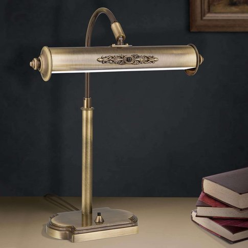 Desk Lamp Picture In Antique Brass