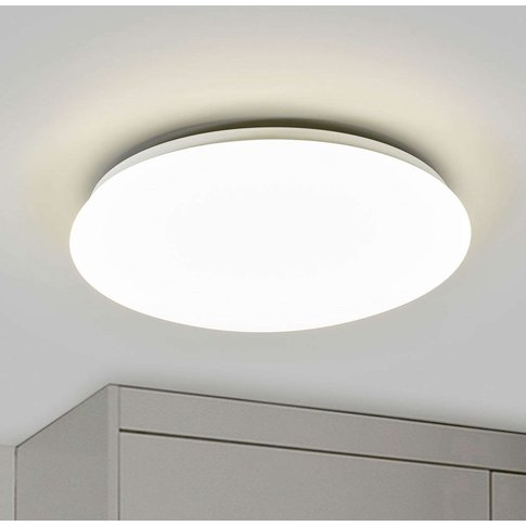 Suede Led Ceiling Light White
