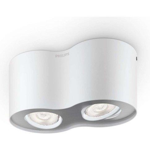 Two-Bulb Phase Led Spotlight In White