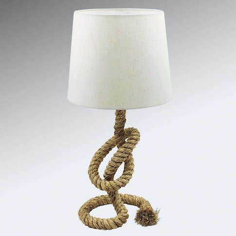 Rope Lamp Lieke With White Lampshade
