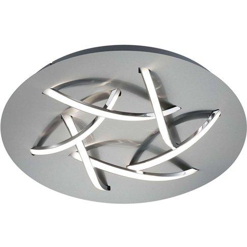 Dolphin Led Ceiling Light, Nickel, Ø 45 Cm
