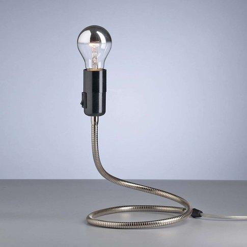 Tecnolumen Lightworm Table Lamp, Nickel-Plated